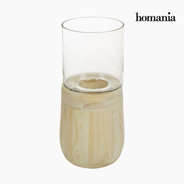 Świeczniki Szkło Drewno - Pure Crystal Deco Kolekcja by Homania