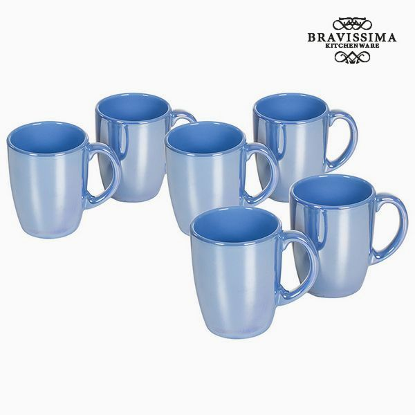 Set of jugs China crockery Modrý (6 pcs) - Kitchen's Deco Kolekce by Bravissima Kitchen