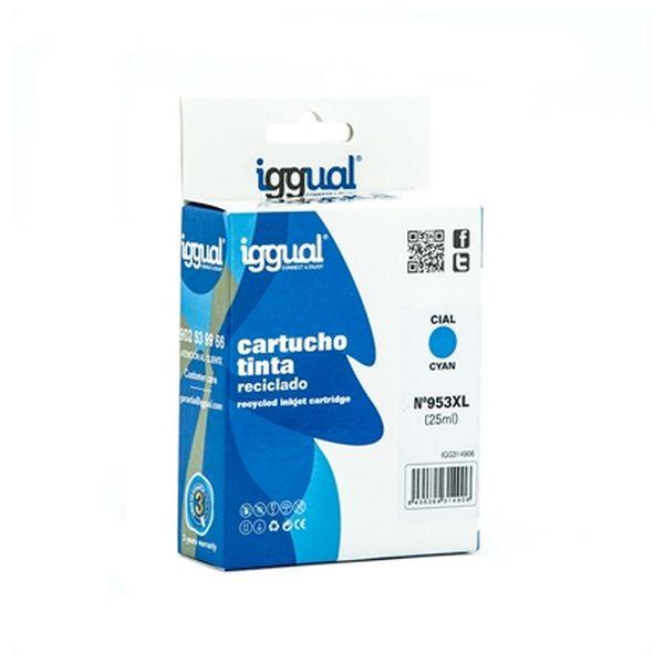 Recyklovaná Inkoustová Kazeta iggual IGG314906 HP 953 Azurová