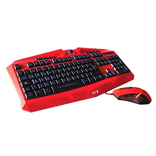 Klawiatura i myszka Gaming Tacens MCPVU1 Czarny Czerwony