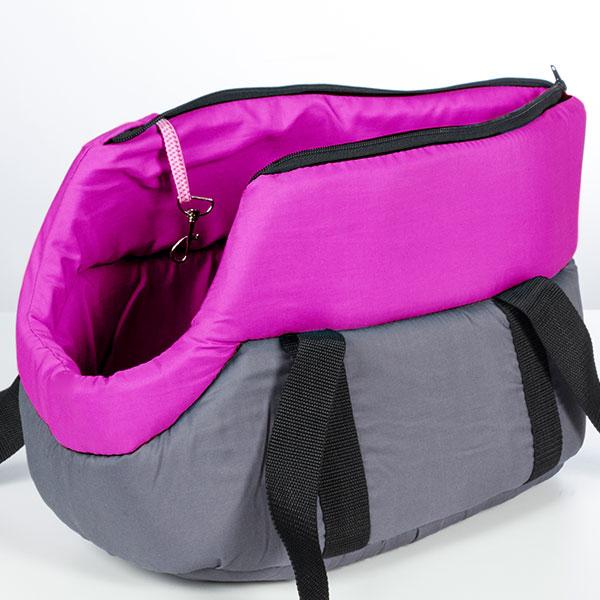 Látková Přepravní Taška pro Zvířata - Růžový