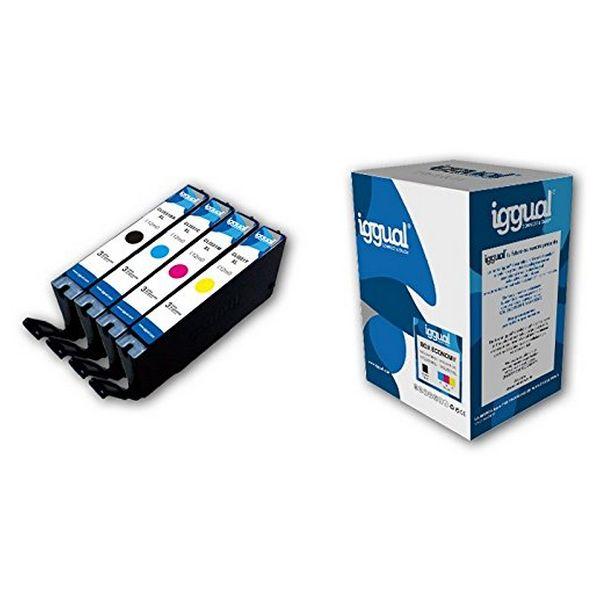 Recyklovaná Inkoustová Kazeta (balení po 4) iggual CCICRC0333 IGG313886 Box-Economy Azurová Purpurov