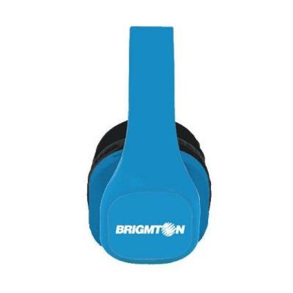 Słuchawki z MP3 i radiem BRIGMTON BAU-M4-A Niebieski
