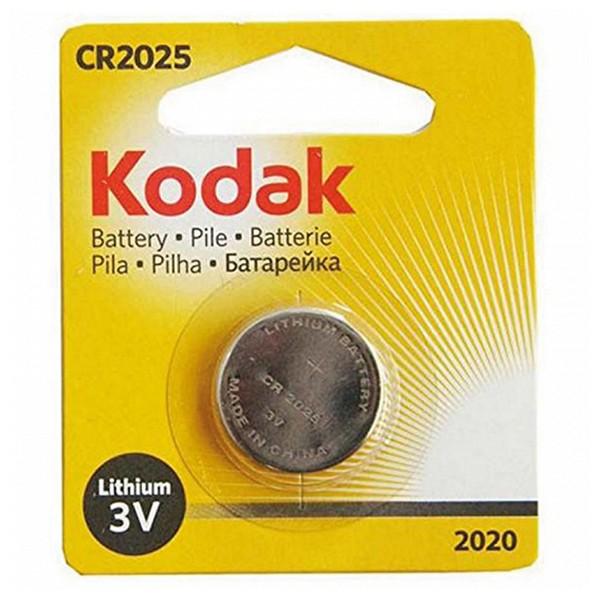 Knoflíková lithiová baterie Kodak KCR 2025 3 V Stříbro
