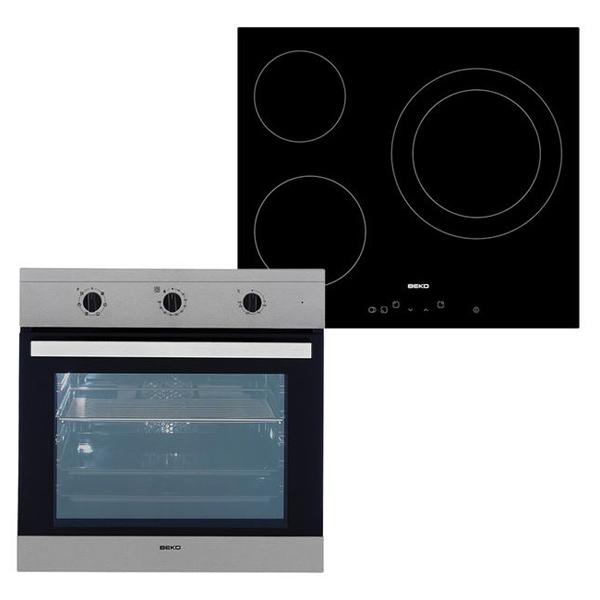 Kuchenka z piekarnikiem i płytą ceramiczną BEKO 202045 65 L TouchControl Inox Stal Czarny
