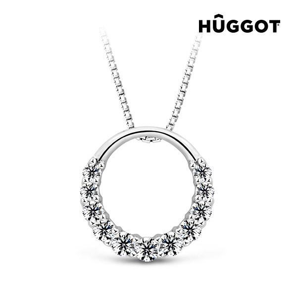 Přívěsek ze sterlingového stříbra 925 se zirkony Gala Hûggot vyrobený s křišťály Swarovski® (45 cm)