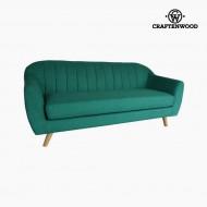 Canapea cu 3 Locuri Lemn de pin Poliester Verde (195 x 83 x 83 cm) by Craftenwood