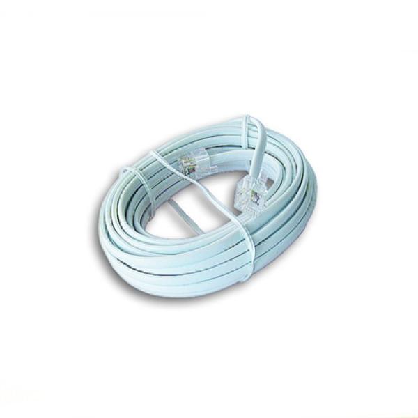 Kabel Telefoniczny iggual IGG309599 RJ11 6P4C 5 m Biały