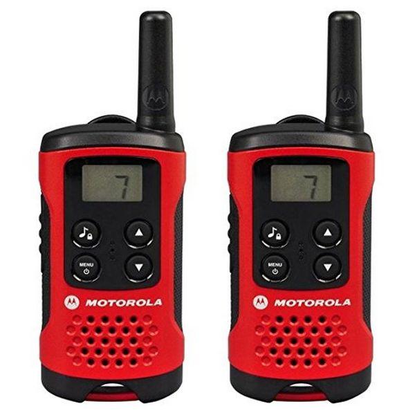 Přenosná vysílačka Motorola TLKR T40 4 km LCD 16 h AAA Černý Červený