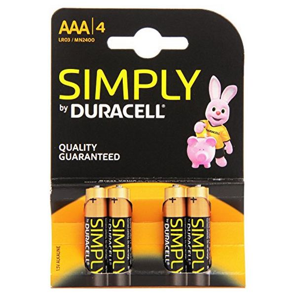 Baterie Alkaliczne DURACELL Simply DURSIMLR3P4B LR03 AAA 1.5V (4 pcs)
