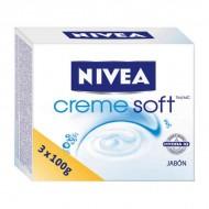 Szappan Készlet Creme Soft Nivea (3 pcs)