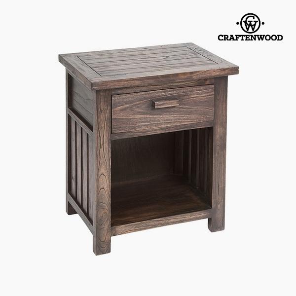 Noční stolek (1 zásuvka) Dřevo mindi (50 x 35 x 55 cm) by Craftenwood