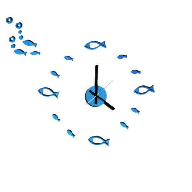 Zegar ścienny Zrób to sam - Niebieskie rybki