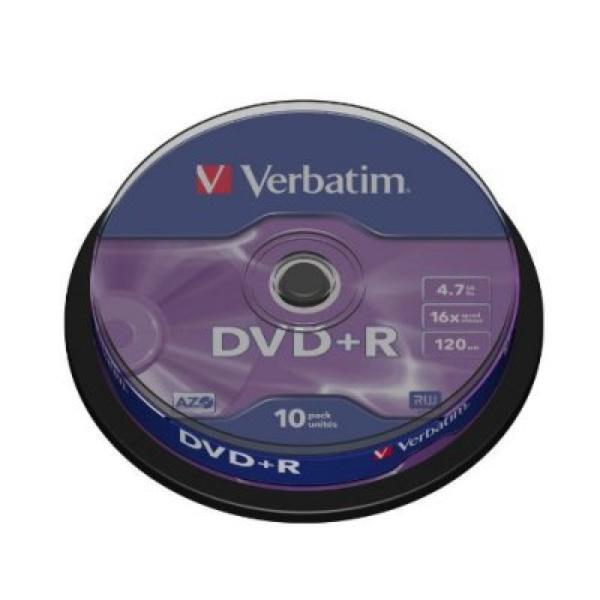 DVD+R Verbatim 43498 4.7 GB 16x 10 pcs