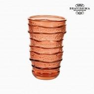 Váza z recyklovaného skla Korálová (8 x 8 x 13 cm) by Bravissima Kitchen