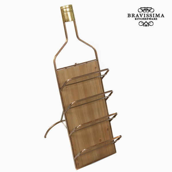 Metalowy stojak na wino by Bravissima Kitchen