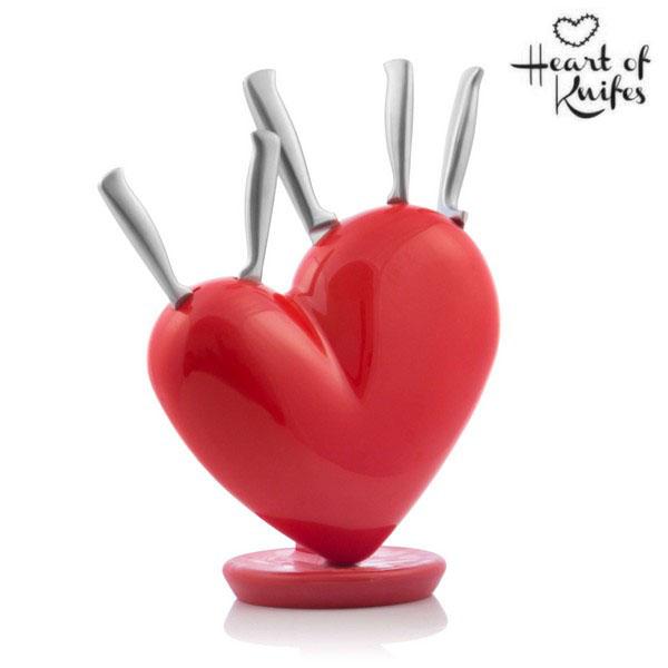 Zestaw Noży Heart of Knives ze Stojakiem