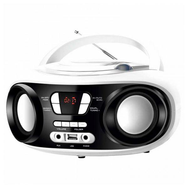 CD-Radio Bluetooth MP3 BRIGMTON W-501 USB Biały