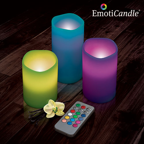 Świece LED EmotiCandle (Zestaw 3 Szt.)