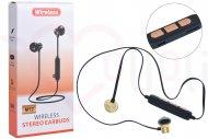 Bezdrátová bluetooth sluchátka s mikrofonem M12 - Zlaté