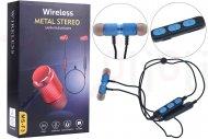 Bezdrátová bluetooth sluchátka s mikrofonem MS-F3 (BT5.0) - Modré