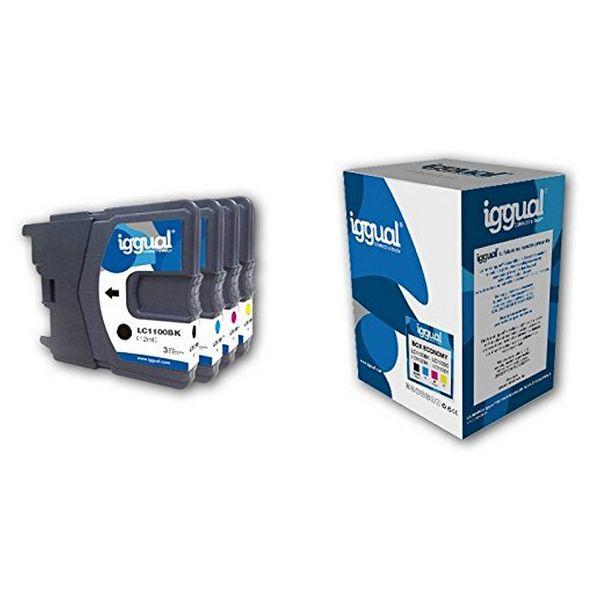 Recyklovaná Inkoustová Kazeta (balení po 4) iggual CCICRC0335 IGG313862 Box-Economy Azurová Purpurov