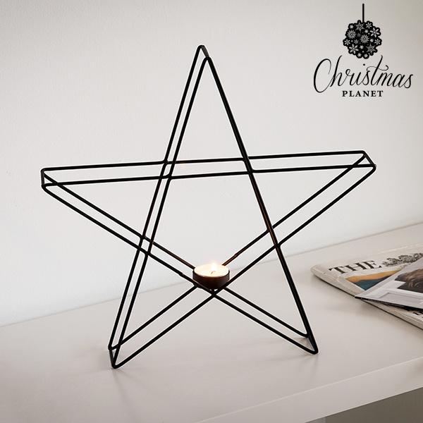 Świecznik Metalowy Gwiazda Christmas Planet