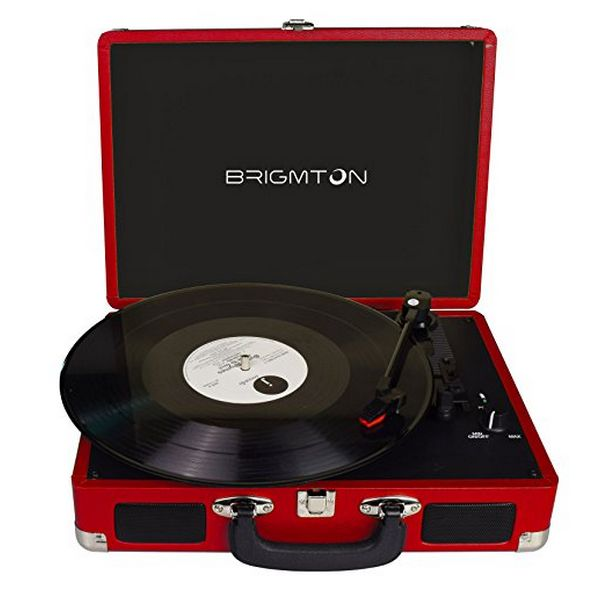 Gramofon BRIGMTON BTC-404 2 x 1W Červený