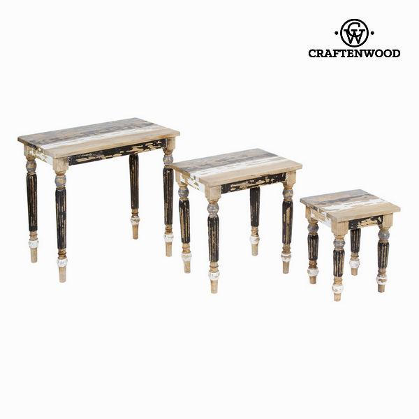 Stół komplet trzech 30x30x38 cm - Poetic Kolekcja by Craftenwood
