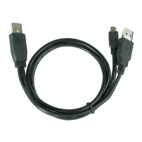Dvojitý Kabel USB na Mini USB iggual IGG312063 0,9 m