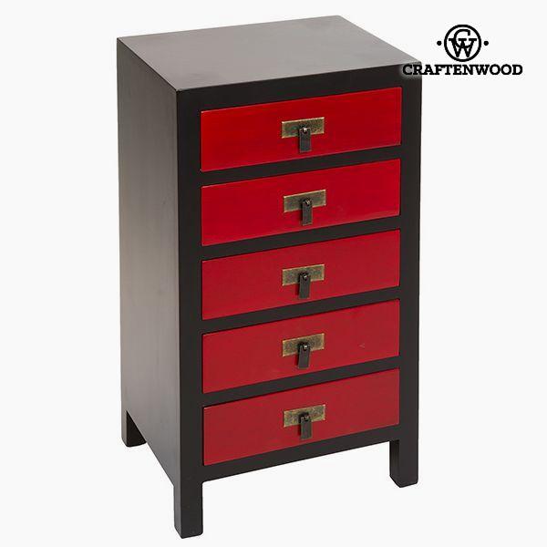 Hall Mdf Černý Červený (44 x 32 x 80 cm) - Modern Kolekce by Craftenwood