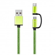 Kabel USB do Micro USB i USB C Ref. 101134