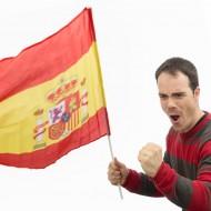Španělská vlajka (60 x 90 cm) na tyči