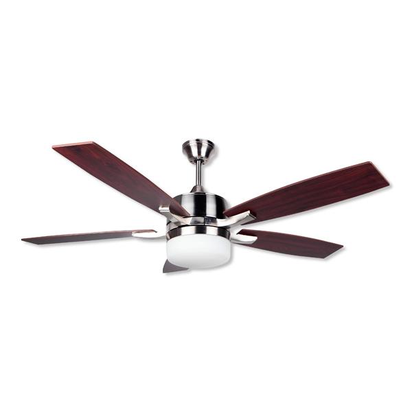 Stropní ventilátor se světlem Obergozo CP 79132 60W Stříbřitý Kaštanová