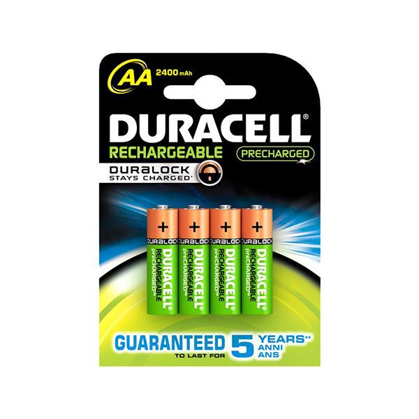 Dobíjecí Baterie DURACELL AA NiMh 2400 mAh (4 pcs)