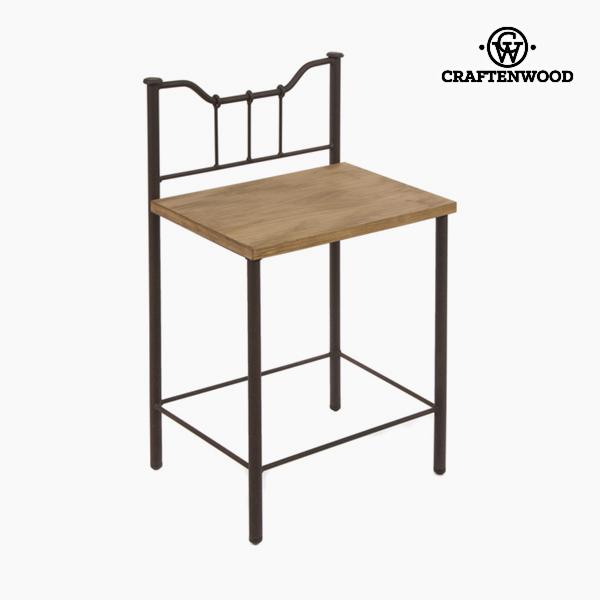 Noční stolek Dřevo Kování Černý - Perfect Kolekce by Craftenwood