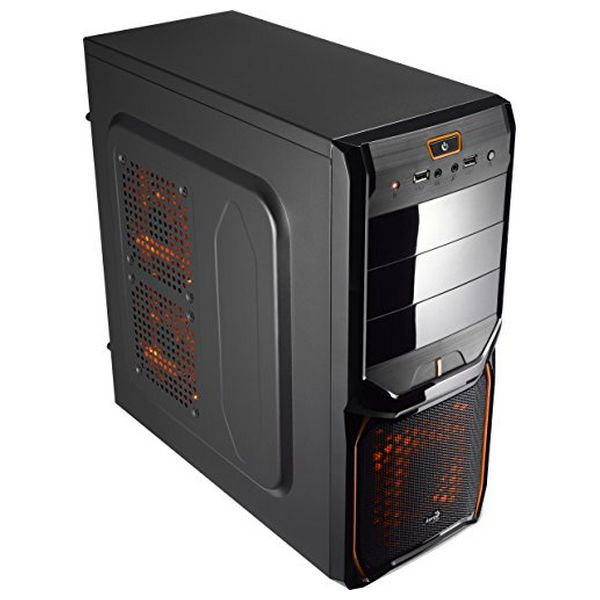 Semi Wieża ATX Aerocool ICACSM0179 V3XADBO USB 3.0 Orange Edition Midi-Tower Czarny