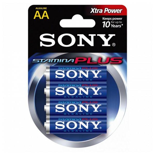 Alkalická baterie Sony 4+2 AA Stamina Plus AM3-B4X2D 1,5 V AA (4 pcs) Modrý