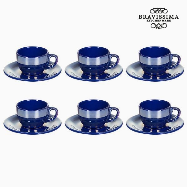 Tea set China crockery Modrý (12 pcs) - Kitchen's Deco Kolekce by Bravissima Kitchen
