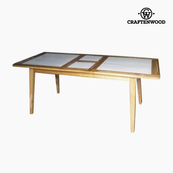Stół rozkładany Drewno mindi (160 x 90 x 78 cm) by Craftenwood