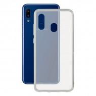 Puzdro na mobil Galaxy A20 Flex Transparentná