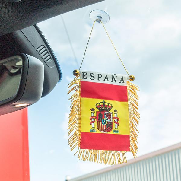 Proporczyk reprezentacji Hiszpanii z przyssawką