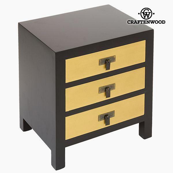 Noční stolek Mdf Černý Žlutý - Modern Kolekce by Craftenwood
