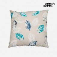 Poduszka Kartki Niebieski (45 x 45 cm) - Jungle Kolekcja by Loom In Bloom