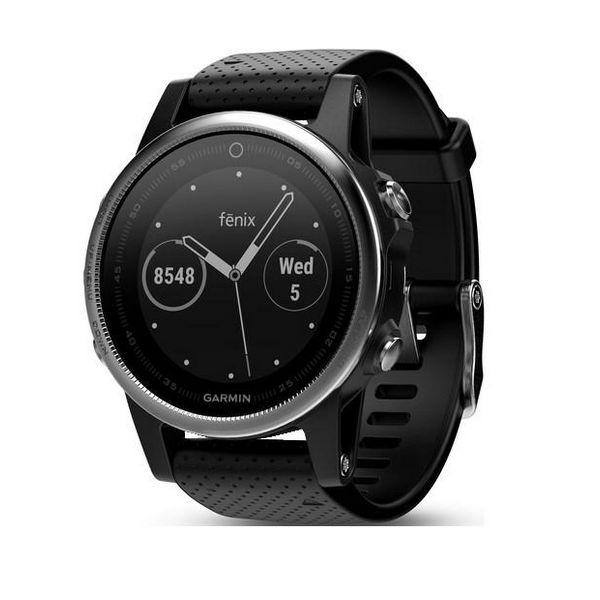 Chytré hodinky GARMIN FENIX 5S GPS 10 ATM Stříbro Černý