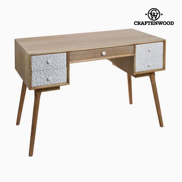 Psací stůl Mdf a borovice Bílý (120 x 61 x 80 cm) by Craftenwood