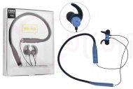 Bezdrátová bluetooth sluchátka s mikrofonem V88 - Modré