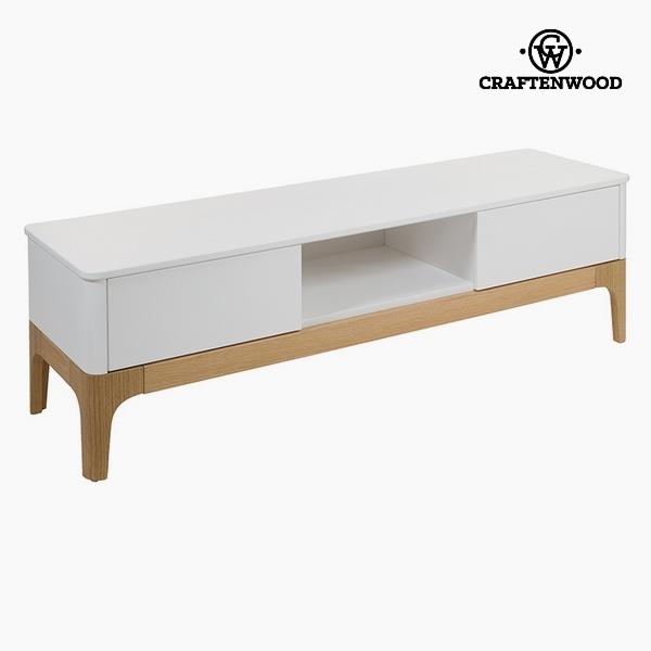 TV stolek Mdf Bílý (2 zásuvky) (150 x 45 x 45 cm) by Craftenwood