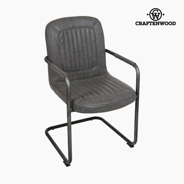 Židle s područkami Koženka Šedý - Serious Line Kolekce by Craftenwood