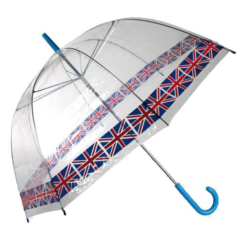 Hluboký Holový Deštník s Britskou Vlajkou